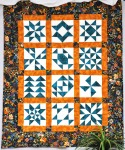 Teal & Orange Lap Quilt