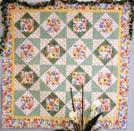 Floral Square In A Square Quilt
