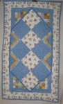 Blue Hearts Table Runner
