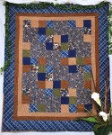 Brown & Blue Flannel Quilt