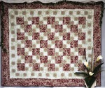 Dusty Pink/Green/Cream Quilt